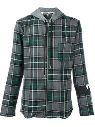 рубашка в клетку с капюшоном McQ Alexander McQueen