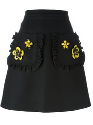 юбка с цветочной аппликацией I'M Isola Marras