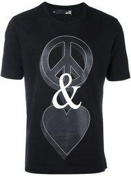 футболка с принтом 'Peace and Love' Love Moschino