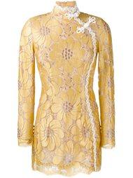 платье мини с цветочной вышивкой  Alessandra Rich