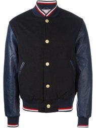 куртка бомбер с контрастными рукавами Thom Browne