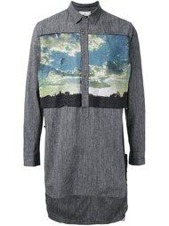 длинная рубашка с асимметричным подолом Mihara Yasuhiro