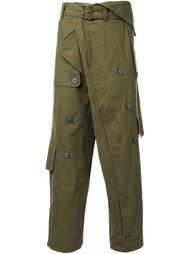 брюки с дизайном тренча Mihara Yasuhiro
