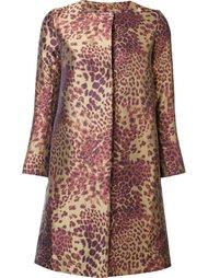 пальто с леопардовым узором Josie Natori