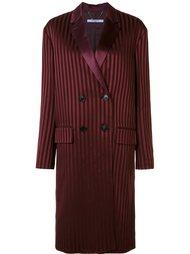двубортное пальто в полоску Givenchy