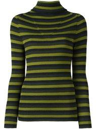 пуловер в полоску с высокой горловиной P.A.R.O.S.H.
