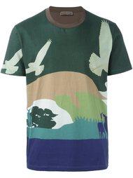футболка с принтом-пейзажем Etro