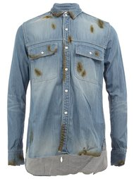 burn effect denim shirt Maison Mihara Yasuhiro