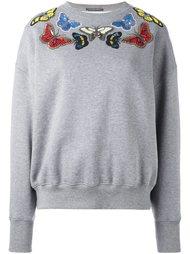 толстовка с декорированными бабочками Alexander McQueen