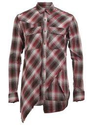 layered plaid shirt Maison Mihara Yasuhiro