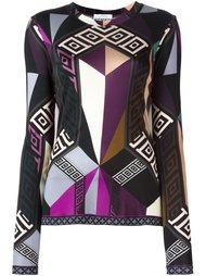 футболка с геометрическим узором и длинными рукавами Versace Collection