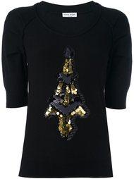 джемпер с вышивкой Эйфелевой башни Sonia Rykiel