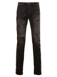 distressed stonewash skinny jeans Maison Mihara Yasuhiro
