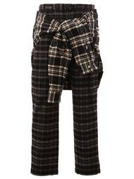 wrap detail plaid trousers Maison Mihara Yasuhiro