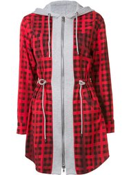 checked hoodie mini dress Moschino