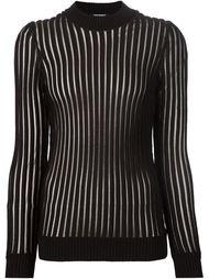 полупрозрачный свитер с полосатым ребристым узором Balmain