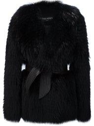 пальто свободного кроя с поясом Balmain