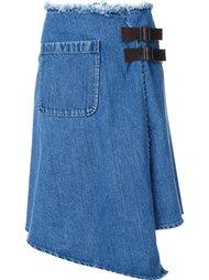 джинсовая юбка с запахом Mihara Yasuhiro