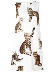 платье с принтом бенгальских котов  Dolce & Gabbana