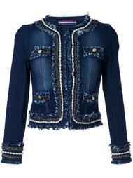 джинсовая куртка с жемчужной отделкой Guild Prime