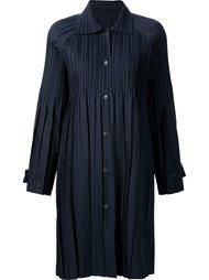 легкое плиссированное пальто Pleats Please By Issey Miyake