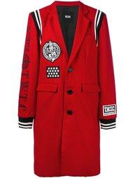 пальто с заплатками KTZ