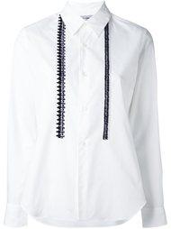 рубашка с вязаной отделкой Comme Des Garçons Comme Des Garçons