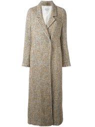 длинное пальто с узором елочкой Forte Forte