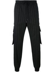 зауженные брюки в тонкую полоску Juun.J
