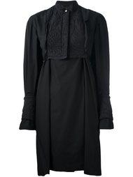 платье-рубашка с вышивкой каллиграфии Sacai