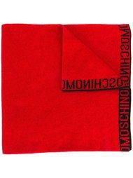 шарф вязки интарсия с логотипом Moschino