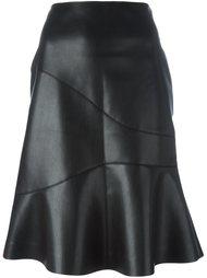 расклешенная юбка из искусственной кожи Cédric Charlier
