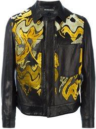 куртка с абстрактным узором Ann Demeulemeester