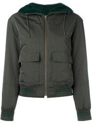 куртка-бомбер с контрастным воротником Army Yves Salomon
