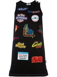 платье-шифт с нашивками Gcds