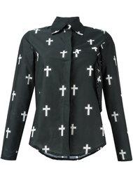 рубашка с принтом крестов Area Di Barbara Bologna
