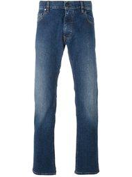 прямые джинсы с потертостями Z Zegna