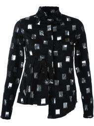 рубашка с прозрачным узором Area Di Barbara Bologna