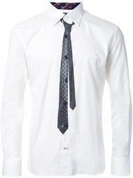 рубашка с принтом галстука  Guild Prime