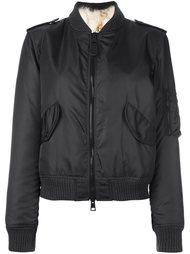 куртка-бомбер с меховой оторочкой As65