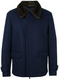 куртка с воротником из меха норки Fendi