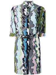 платье-рубашка с комбинированным принтом Versace