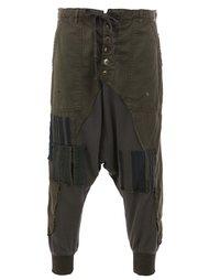 лоскутные брюки Greg Lauren