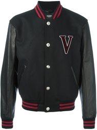 университетская куртка с принтом-логотипом  Versus
