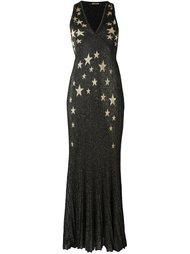 вечернее платье со звездами Roberto Cavalli
