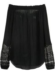 macrame detail off-shoulders blouse Kobi Halperin