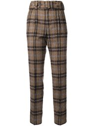 checked tailored trousers Taro Horiuchi