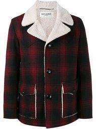 пальто в клетку  Saint Laurent