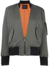 куртка бомбер с V-образным вырезом Erika Cavallini