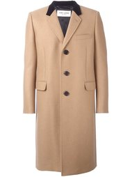 пальто с контрастным воротником Saint Laurent